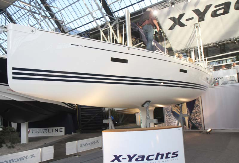 X-Yachts Xc 38 under Både i Bella. Foto: Troels Lykke