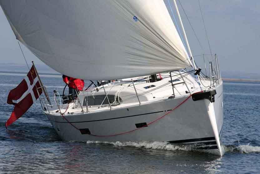 Skroget til Xp44 er støbt i Polen og båden er monteret i Haderslev. Foto. X-Yachts