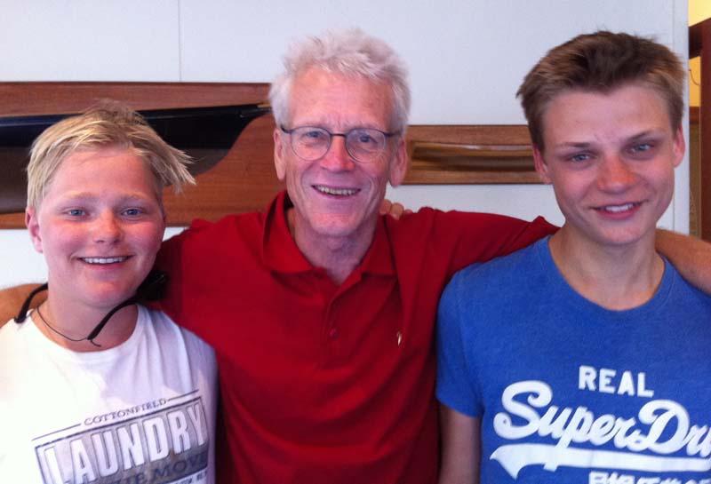 Angus Larsen, Jørgen Ring og Lars-Peter Rosendahl fra KDY vinder anden sejlads.